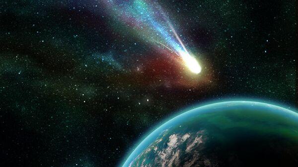 Комета, пролетающая мимо Земли