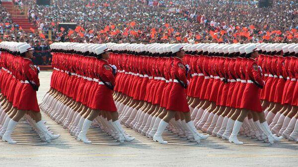 Военный парад, приуроченный к 70-летию образования Китая, в Пекине