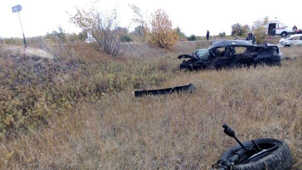 В Саратовской области три человека погибли при столкновении двух машин. 1 октября 2019