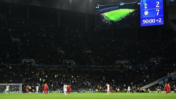 Эпизод матча Лиги чемпионов между Тоттенхэмом и Баварией