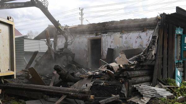 Снос дома в Тулуне Иркутской области