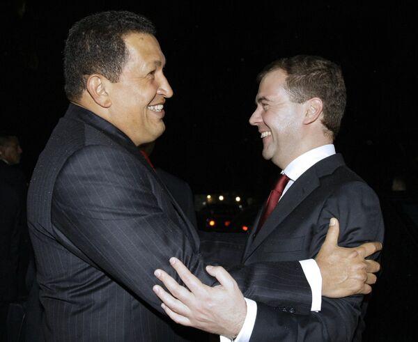 Президенты России и Венесуэлы