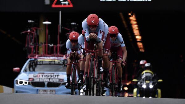 Велогонщики команды Katusha Alpecin