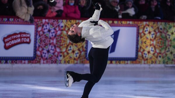 Шоу Королевы льда на ГУМ-катке