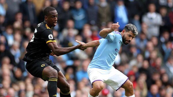 Игровой момент матча Манчестер Сити - Вулверхэмптон