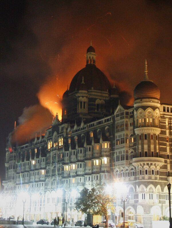 Отель Тадж-Махал, подвергшейся нападению террористов в Мумбаи