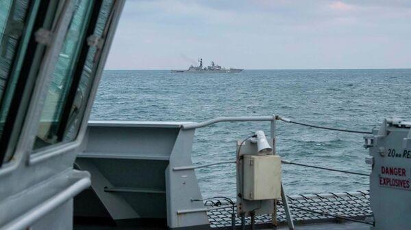 Британский патрульный корабль HMS Mersey