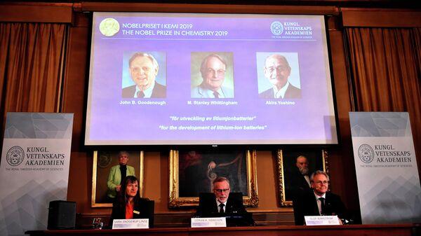 Объявление лауреатов Нобелевской премии по химии 2019 года