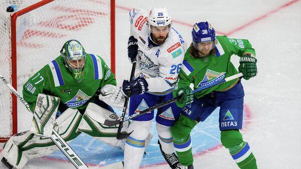 Барыс - Салават Юлаев в матче регулярного чемпионата КХЛ