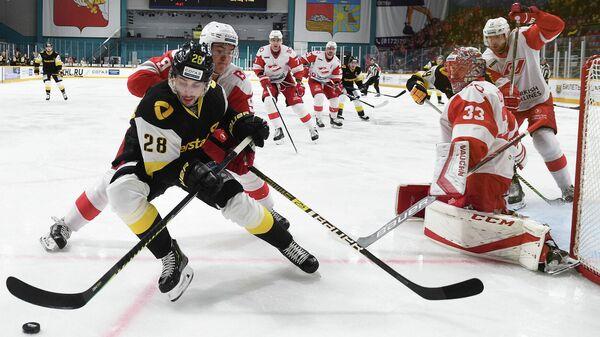 Северсталь - Спартак в матче регулярного чемпионата КХЛ
