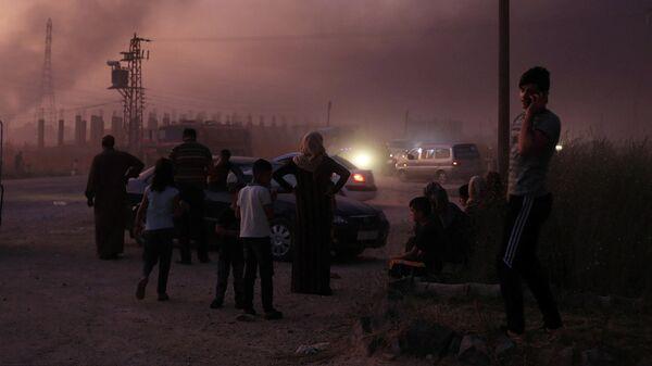 Обстрел Рас эль-Айна в Сирии
