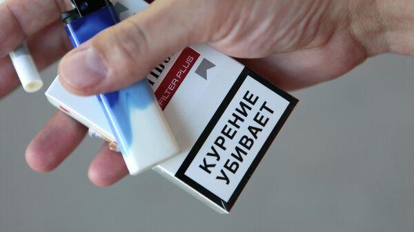 Предупреждение на пачке сигарет