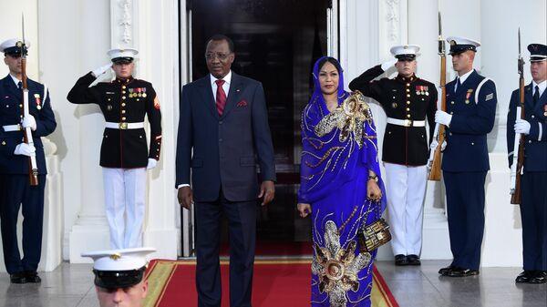 Президент Чада Идрис Деби с супругой Хиндой во время визита в США. 5 августа 2014