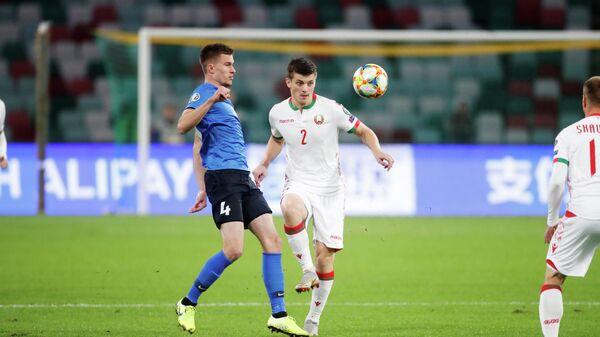 Игровой момент матча Белоруссия - Эстония