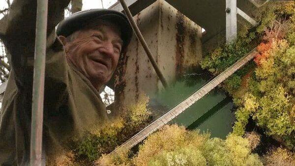 На пользу людям: пенсионер Николай Трофимов построил пешеходный мост