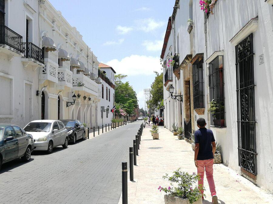 Колониальный город Санто-Доминго. Дома в историческом центре