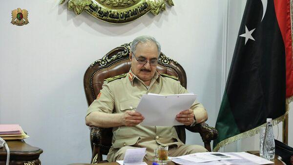 Командующий Ливийской национальной армией маршал Халифа Хафтар