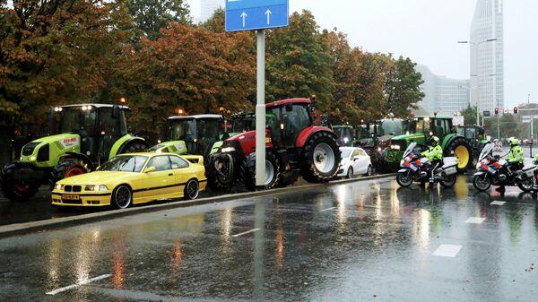 Акция протеста фермеров в Гааге, Нидерланды