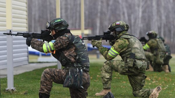Учения спецназа Росгвардии и полиции Китая Сотрудничество-2019
