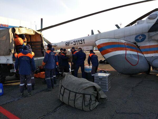 Группировка сил для ликвидации ЧС в Курагинском районе Красноярского края