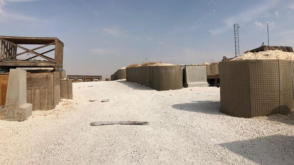 Брошенная военная база США на северо-востоке Сирии