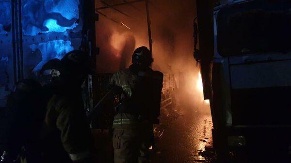 Пожар в Москве на складе в  районе Гольяново. 21 октября 2019