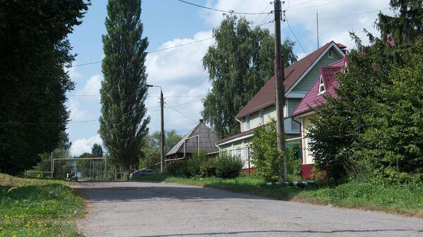 Одна из улиц в городе Чекалин