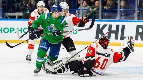 Авангард - Салават Юлаев в матче регулярного чемпионата КХЛ