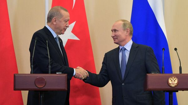 Президент РФ Владимир Путин и президент Турции Реджеп Тайип Эрдоган