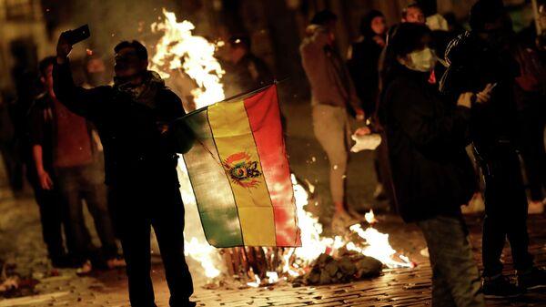 Акция протеста в Ла-Пасе, Боливия