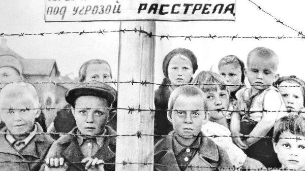 Узники финского концлагеря в Петрозаводске
