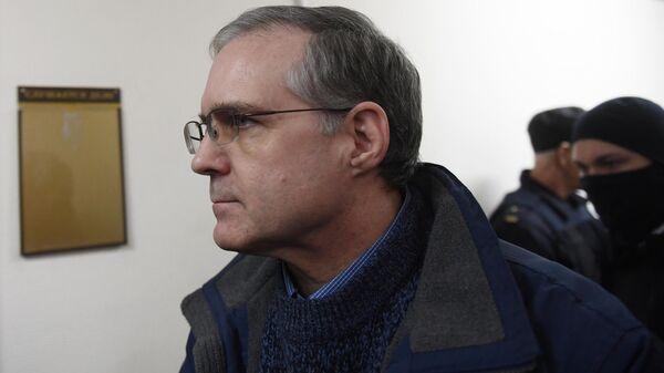 Гражданин США Пол Уилан в здании Лефортовского суда Москвы