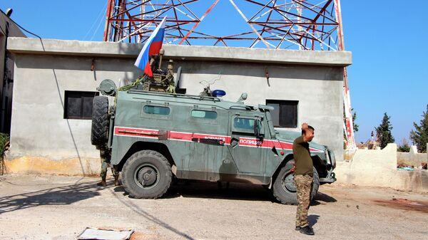 Российская военная полиция в северо-восточном сирийском городе Кобани