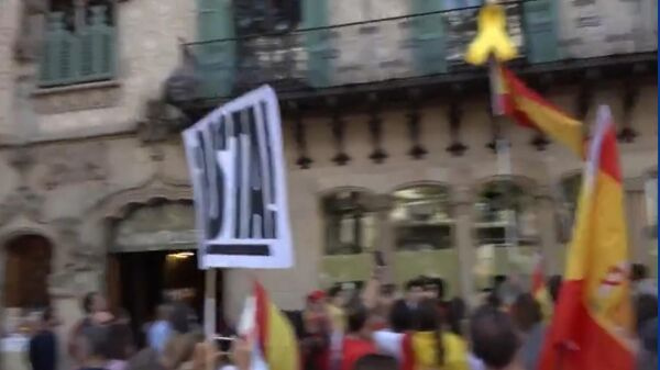 В Барселоне на стрингера Ruptly напали митингующие