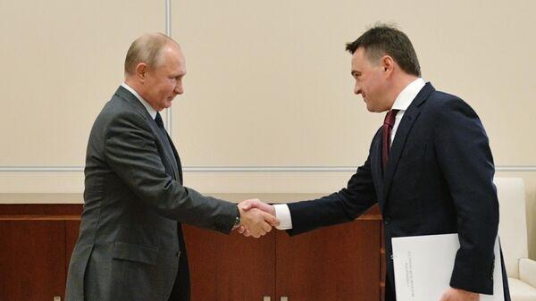 Президент РФ Владимир Путин и губернатор Московской области Андрей Воробьев во время встречи. 28 октября 2019