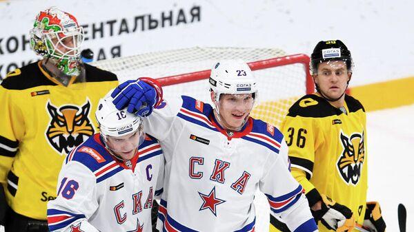 СКА - Северсталь в матче регулярного чемпионата КХЛ