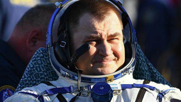 Член основного экипажа 59/60-й длительной экспедиции на МКС космонавт Роскосмоса Алексей Овчинин после посадки спускаемого аппарата пилотируемого космического корабля Союза МС-12