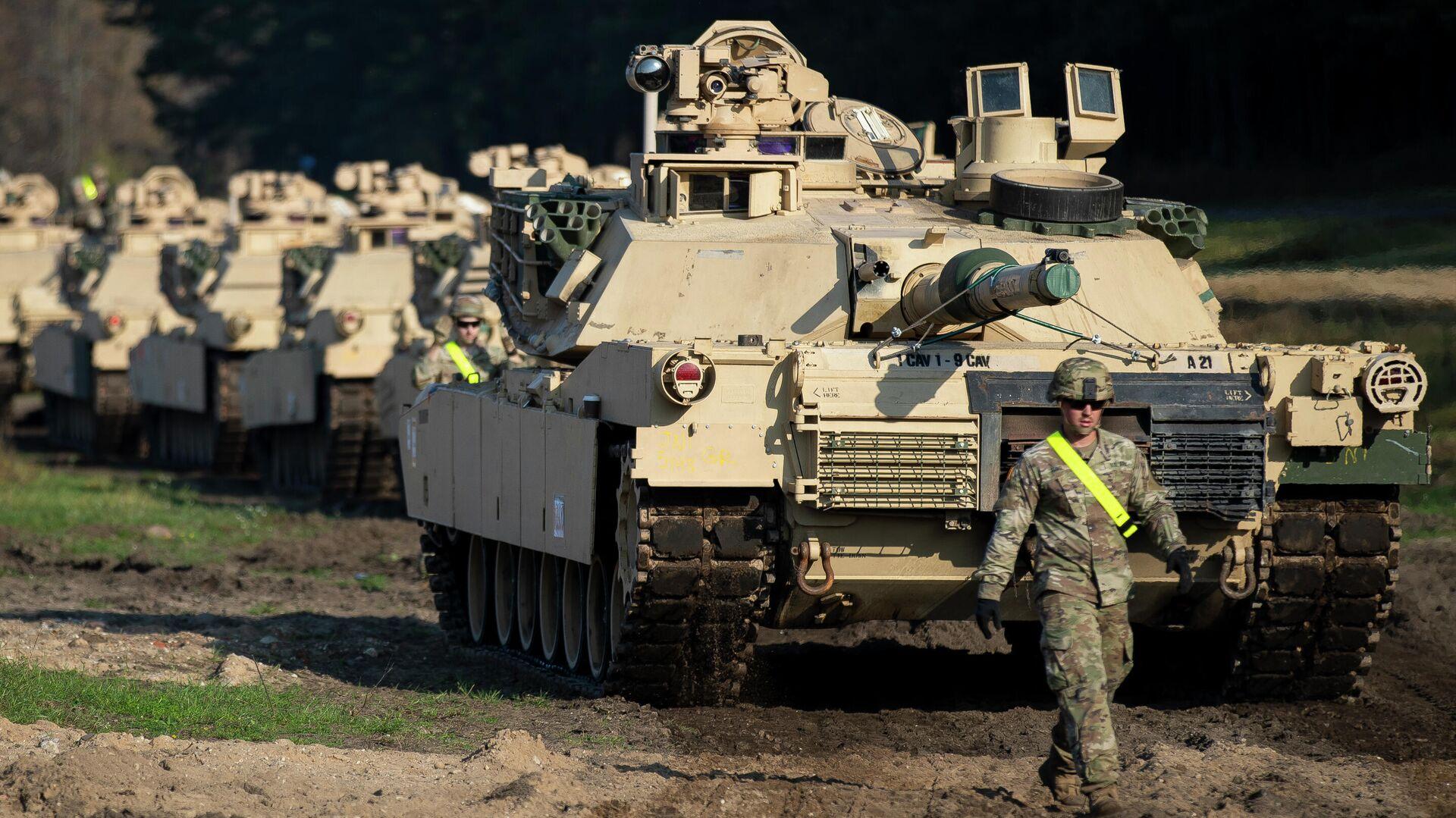 Американские танки Абрамс в городе Пабраде, Литва. 21 октября 2019 - РИА Новости, 1920, 09.07.2020