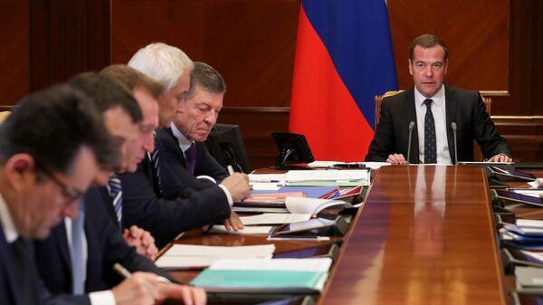 Председатель правительства РФ Дмитрий Медведев проводит заседание наблюдательного совета государственной корпорации развития ВЭБ.РФ
