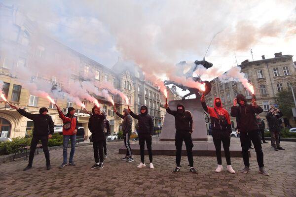 Акция против произвола полиции во Львове