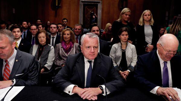 Джон Салливанна заседании комитета по иностранным делам сената США, где рассматривается его кандидатура на пост посла США в РФ. 30 октября 2019