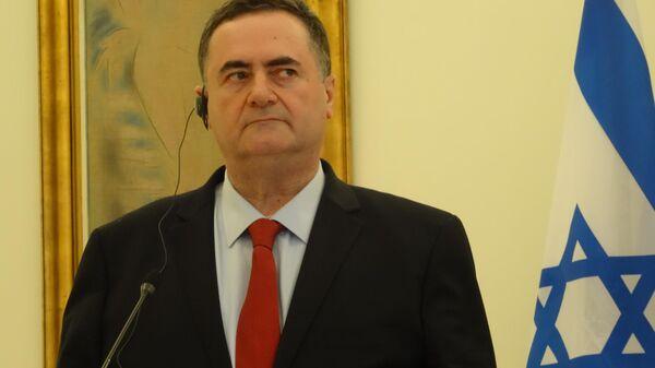 Исраэль Кац во время встречи с  Никосом Дендиасом в Греции