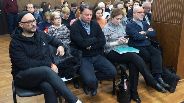 Режиссер Кирилл Серебренников на заседании в Мещанском суде Москвы