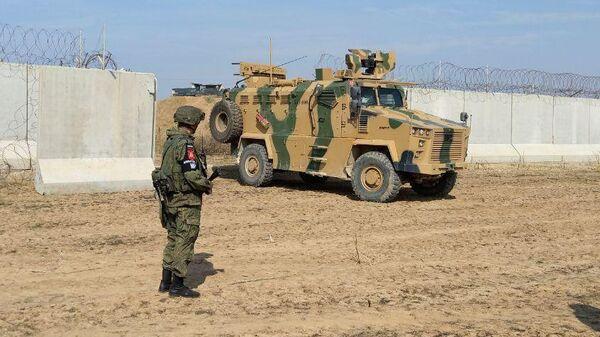 Первое российско-турецкое патрулирование на границе Сирии и Турции