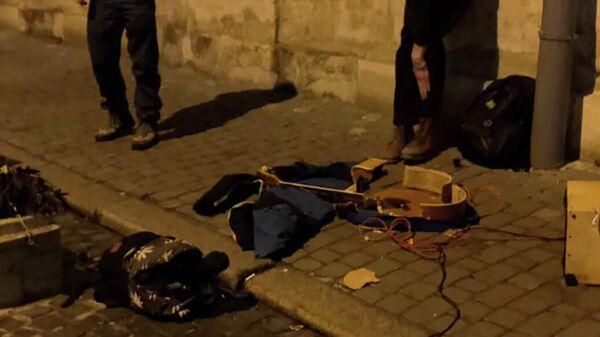 На месте нападения на уличного музыканта во Львове