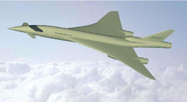 Модель нового сверхзвукового бизнес-самолета HISAC