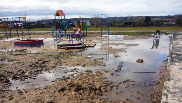 Детская площадка в поселке Арья Нижегородской области