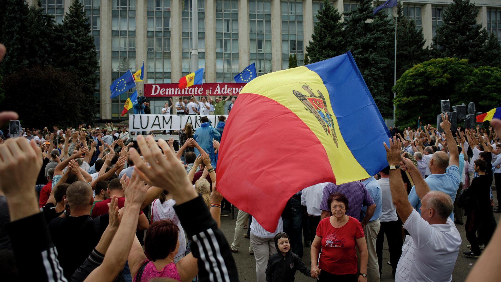 Акции протеста в Кишиневе - РИА Новости, 1920, 20.08.2020