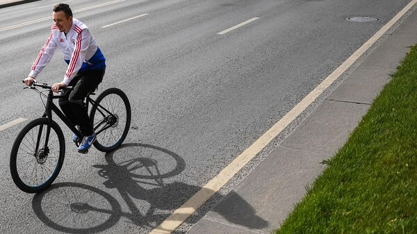 Участник велофестиваля