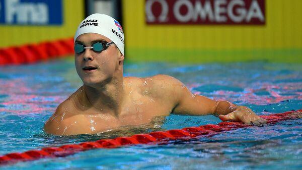 Владимир Морозов (Россия) в финальных соревнованиях по плаванию на дистанции 50 м вольным стилем среди мужчин на VI этапе Кубка мира по плаванию в Казани.